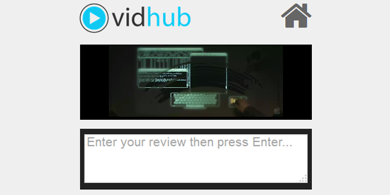 Screenshot of VidHub, an app I made during a hackathon
