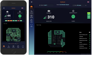 mobile and desktop versions of the blockDox dashboard
