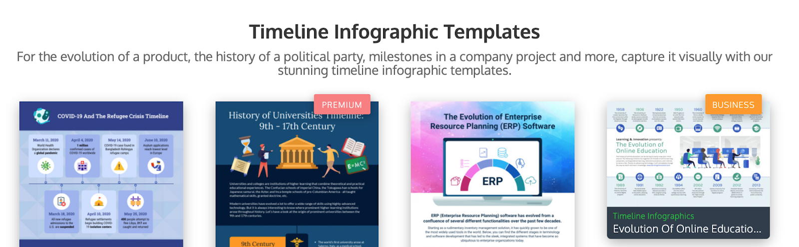 example of lead - Timeline Infographic Templates