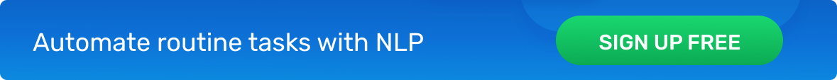 Automate routine tasks with NLP