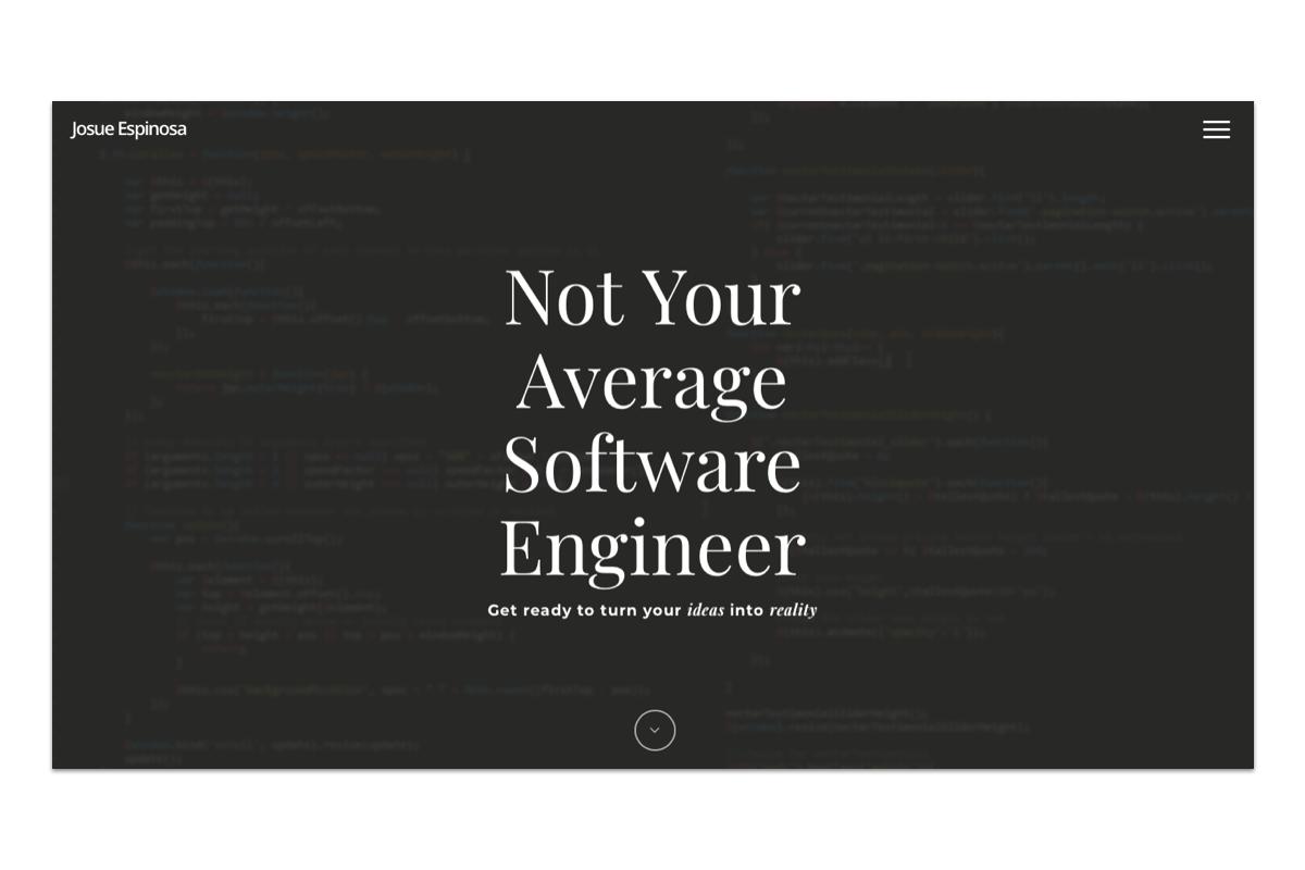 A screenshot of a web developer portfolio