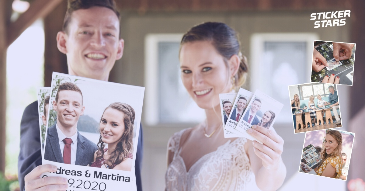 Unterhaltung für Hochzeitsgäste: Ein Stickeralbum