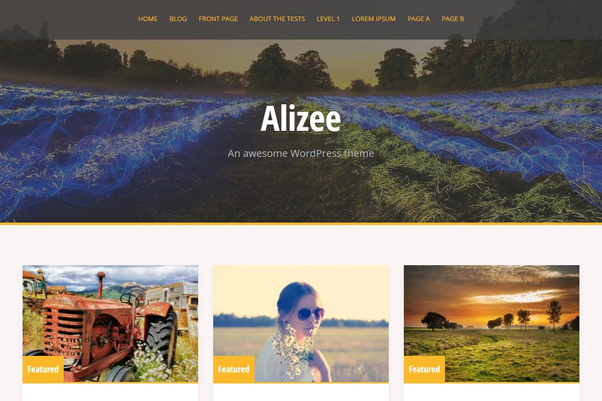 Demo Preview Fullscreen Desktop for Alizee