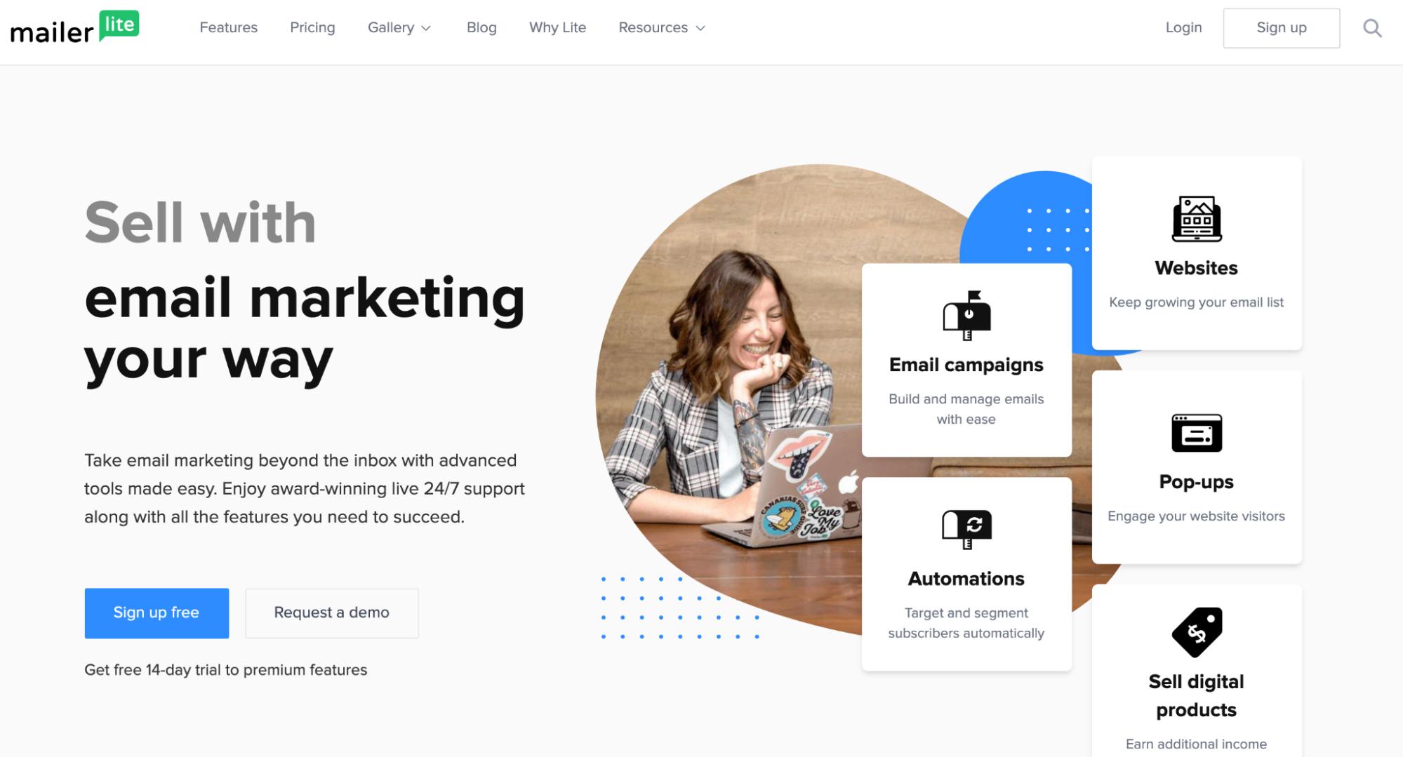 Mailchimp Alternatives: MailerLite Screenshot