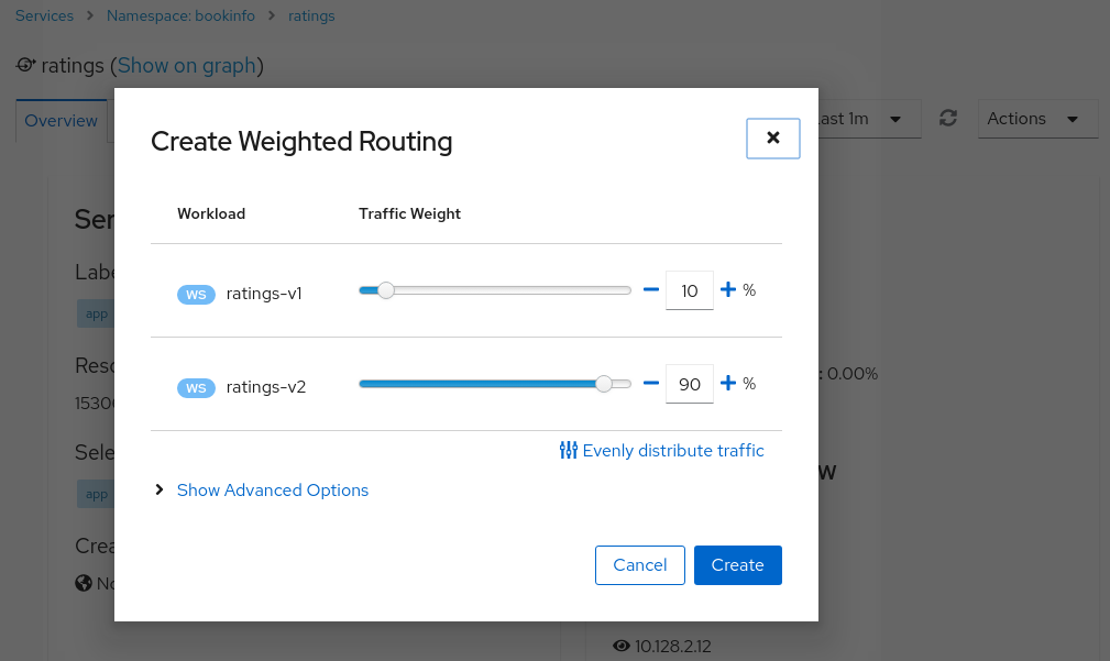 Weighted Routing Wizard