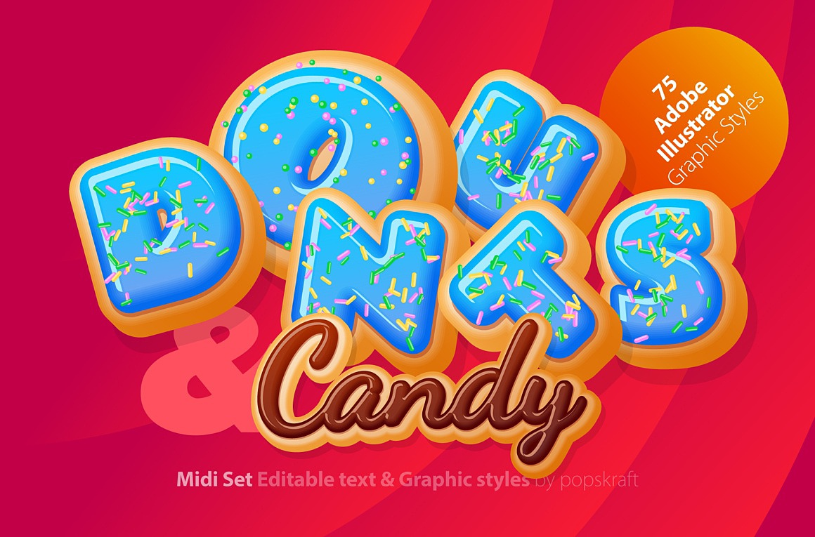 Donuts Adobe Illustrator Graphic style images/donuts_1_cover.jpg