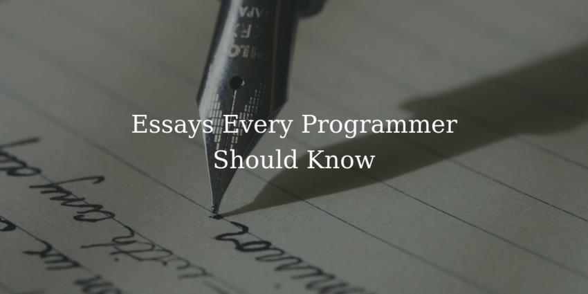 Essays on Programming