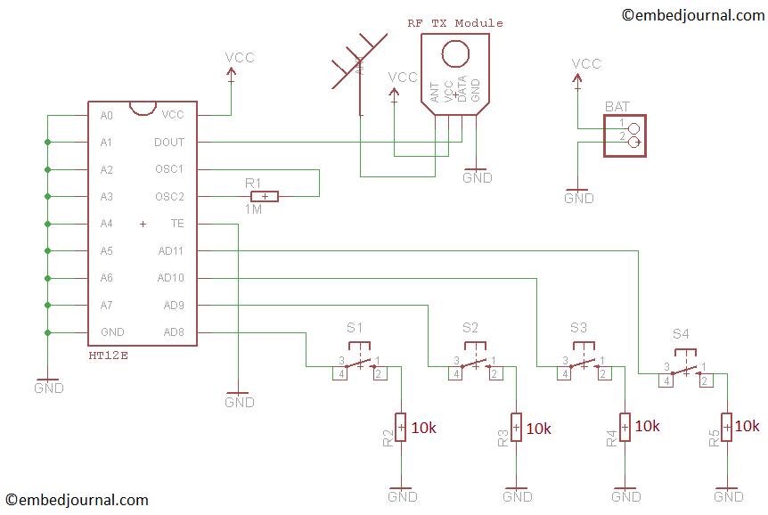 [SCHEMATICS_48YU]  Make a Simple RC (Remote Controlled) Robot Car - EmbedJournal | Wireless Car Diagram |  | EmbedJournal