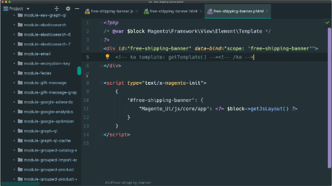 Create a KnockoutJS template