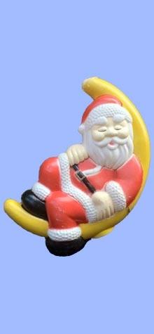 Santa On Moon photo