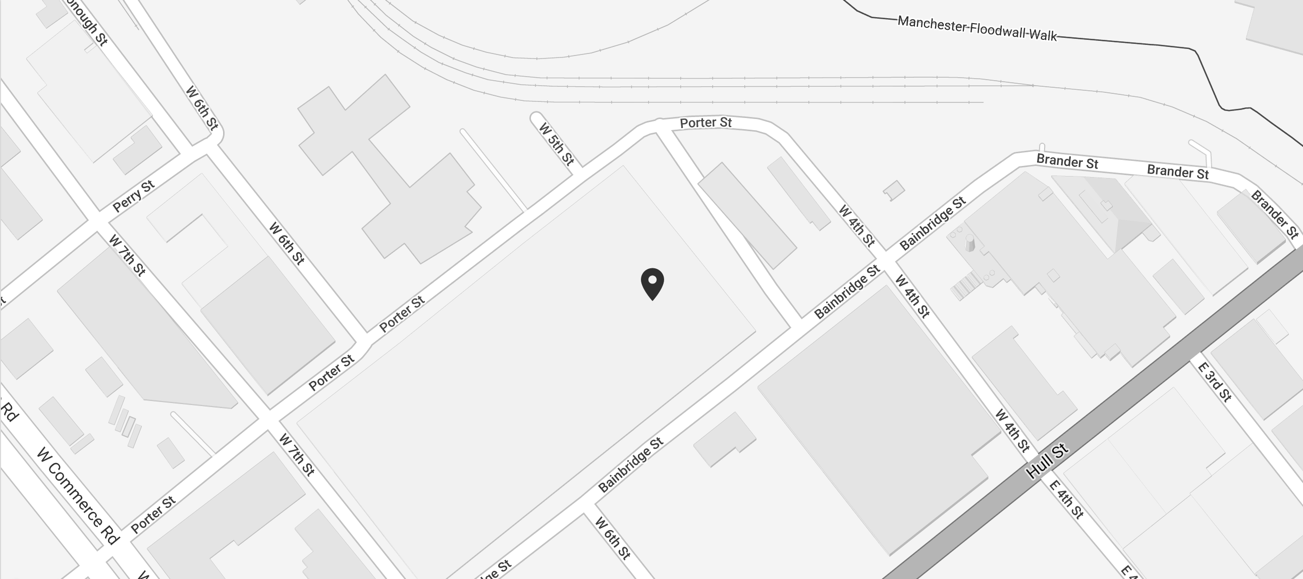 A snippet of a map to City View Lofts