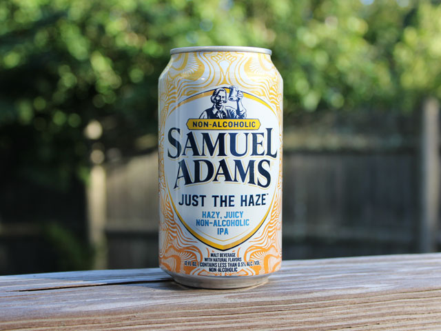 Just the Haze, a non-alcoholic beer brewed by Samuel Adams (Boston Beer Company)