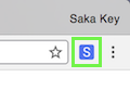Saka Key logo in browser toolbar