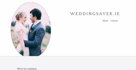 screenshot of the weddingsaver.ie website's homepage