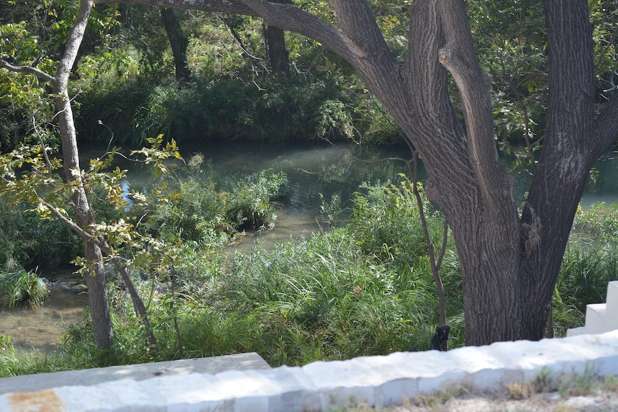 A look at the concho river from the wedding venue
