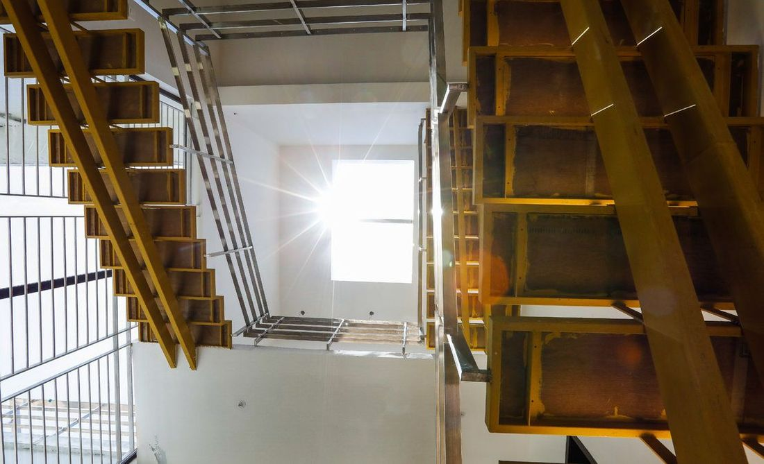 Staircase to sun room
