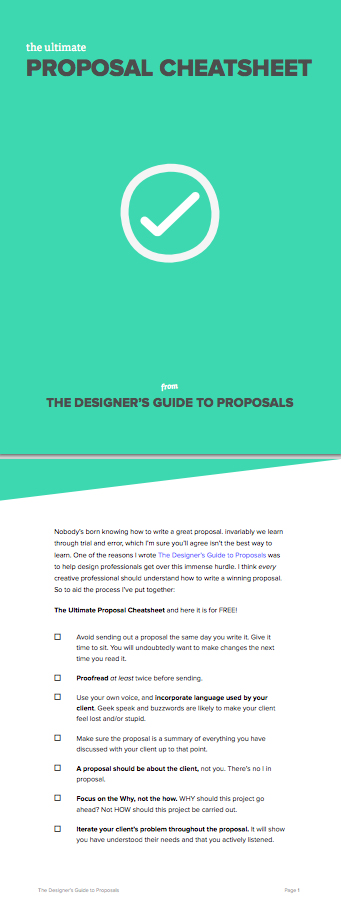 preview proposal cheatsheet