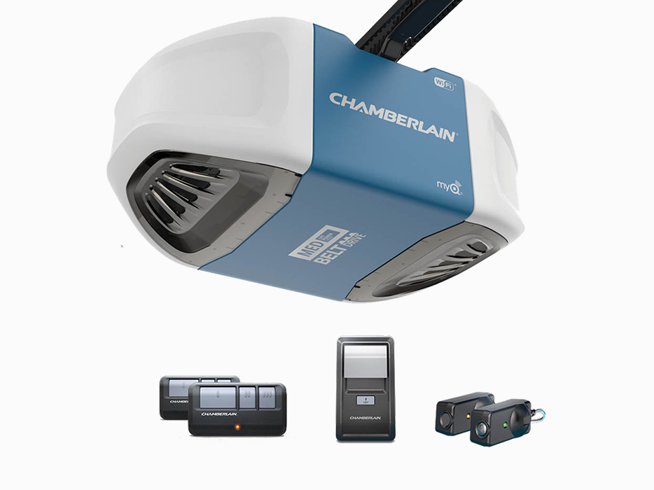 Chamberlain Garage Door Openers take advantage of the very latest in technology to provide superb protection and security at a solid value. Control your garage door through your smart phone and limit access at the same time.