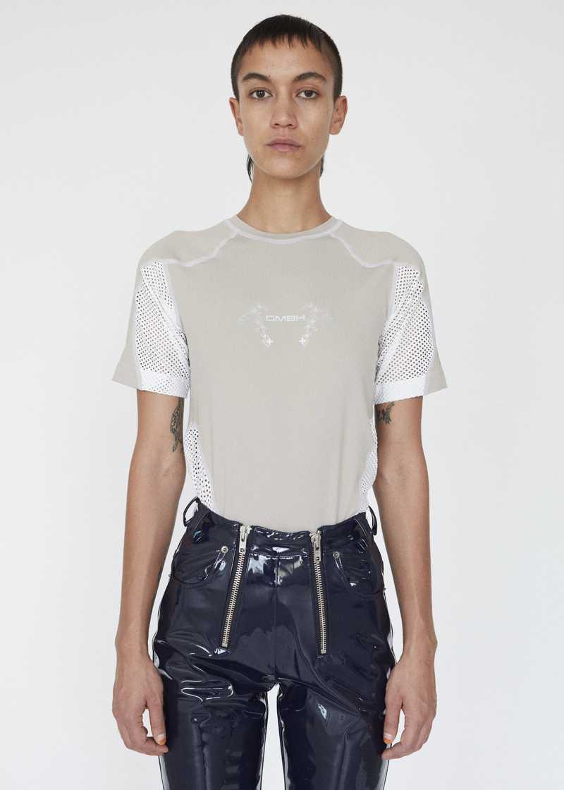GmbH AW19 Eevan T-Shirt Beige White FRONT FEMALE