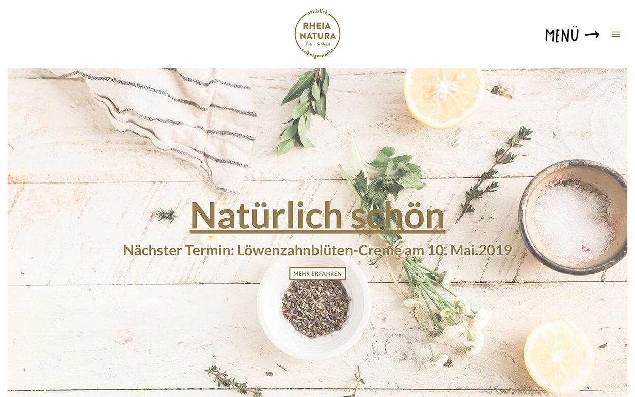 Website von Rheia Natura
