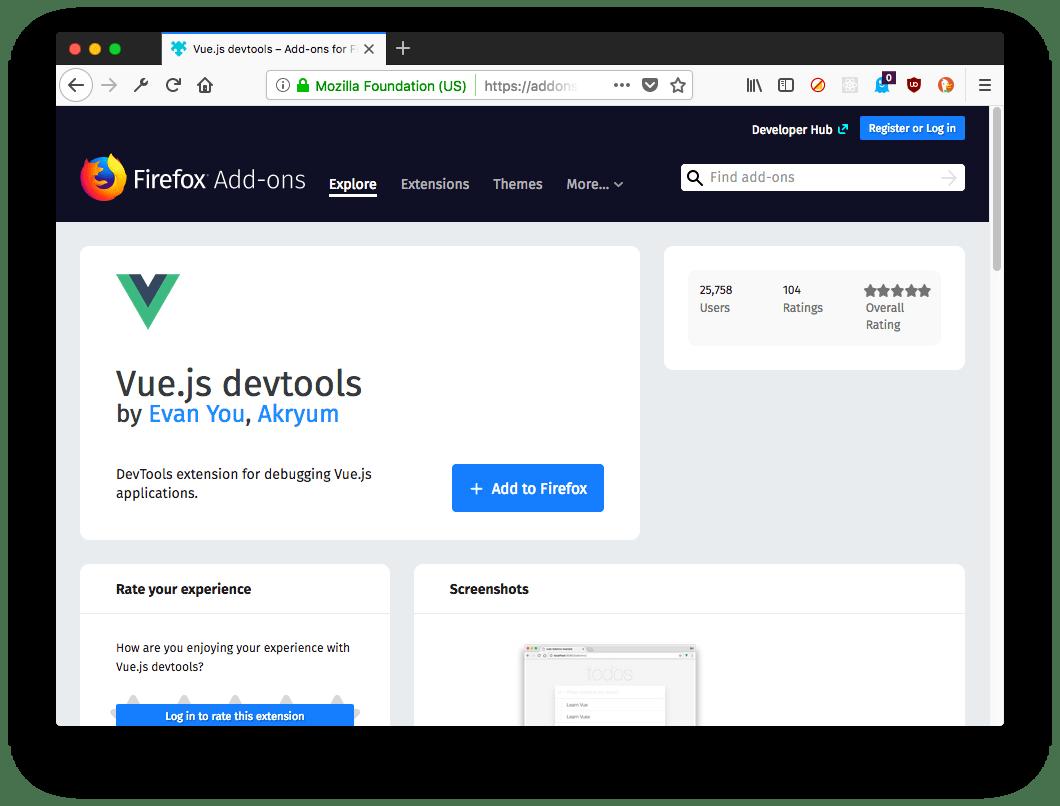 Firefox addons store