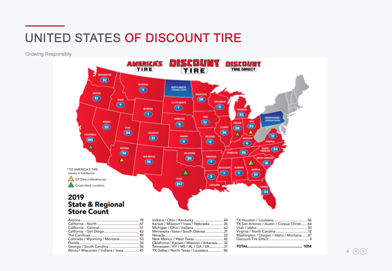 Discount tire map