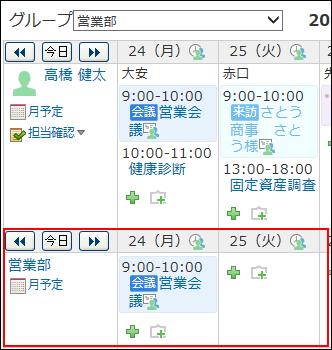 組織の予定のイメージ