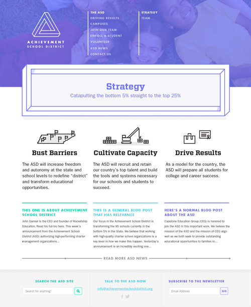 The ASD Strategy web page screenshot