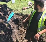 Men working in ditch in Waukegan