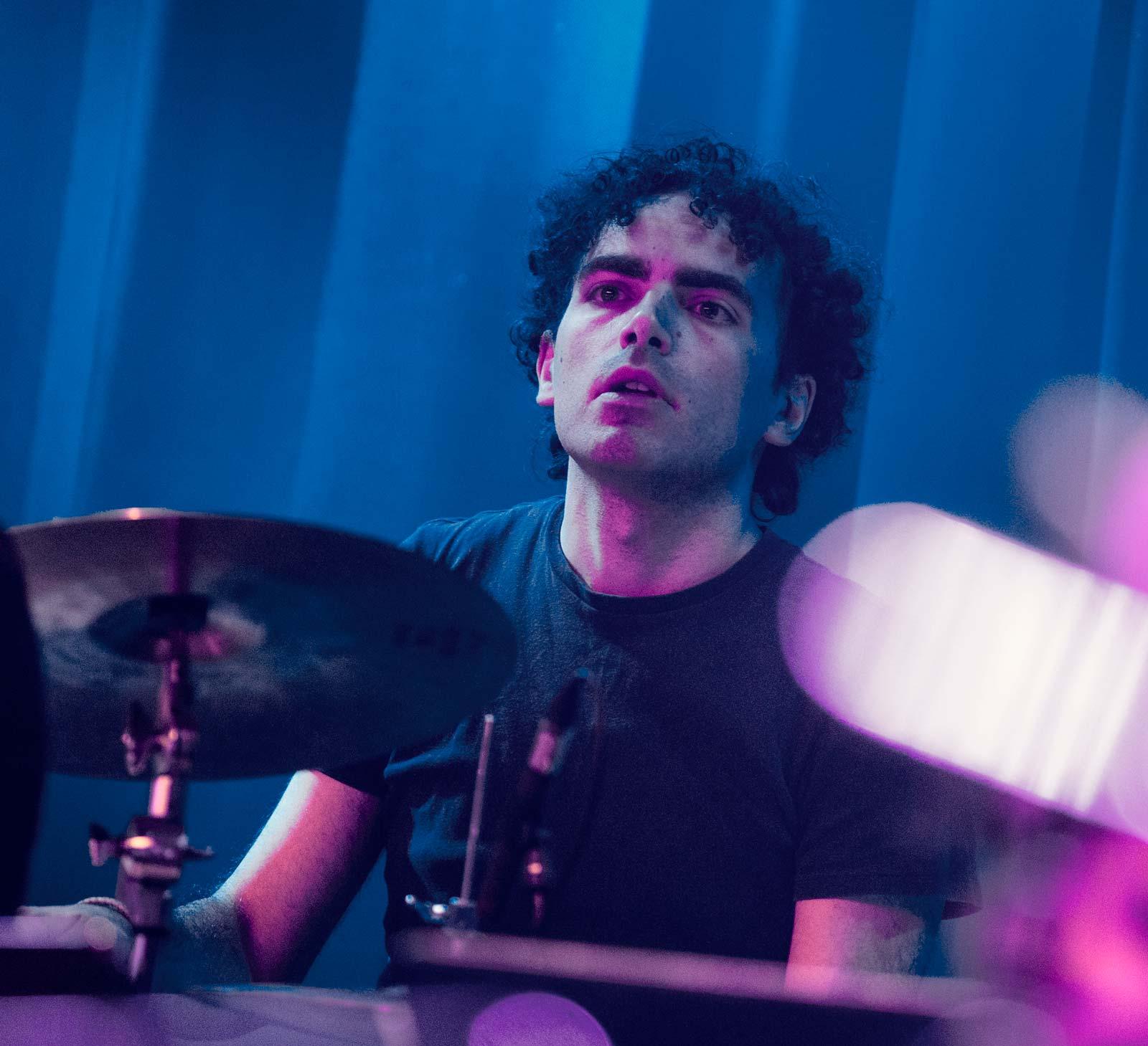Drummer at concert