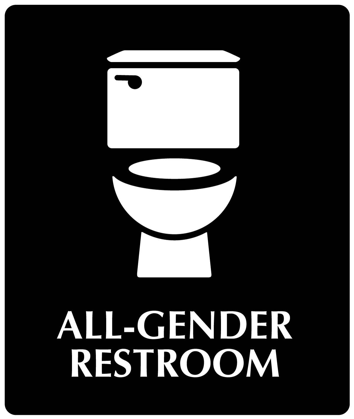My Toilet turned All-Gender Restroom Sign