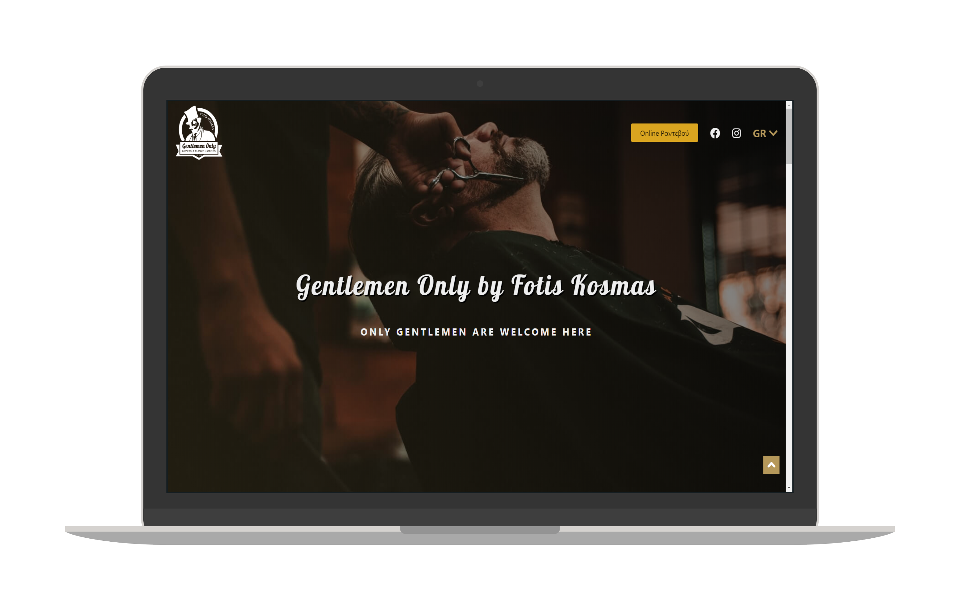 Screenshot of Gentlemen Only Website