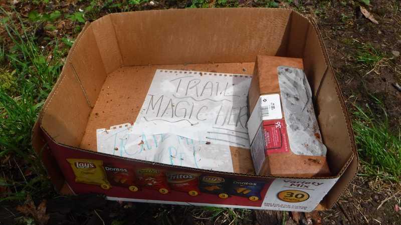Empty trail magic box