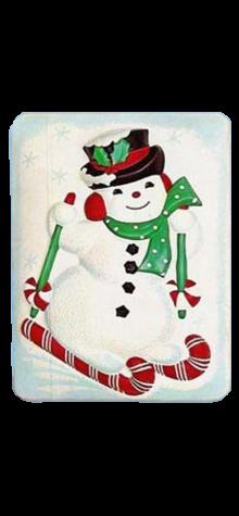 Skiing Snowman photo