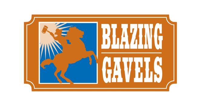 KLRN Blazing Gavels logo