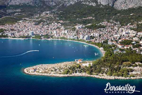 Makarska parasailing location