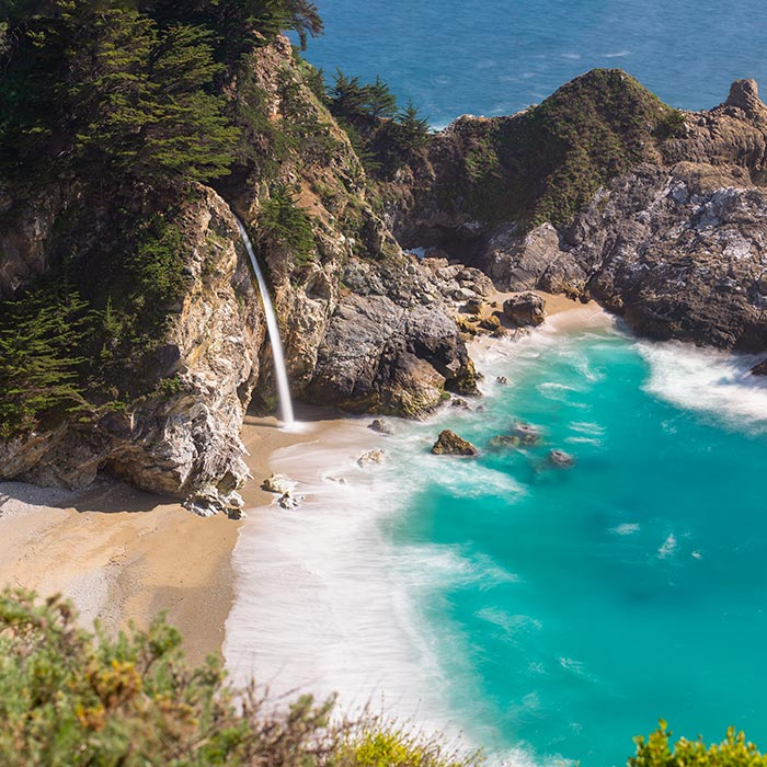 London Photographer: McWay Falls, one of only two tidefalls in California. Big Sur, CA