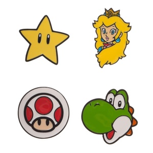 Mario Lapel Pins in a Nice Box Super Mario Brothers