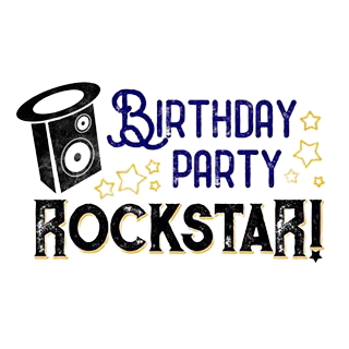 birthday party rockstar logo