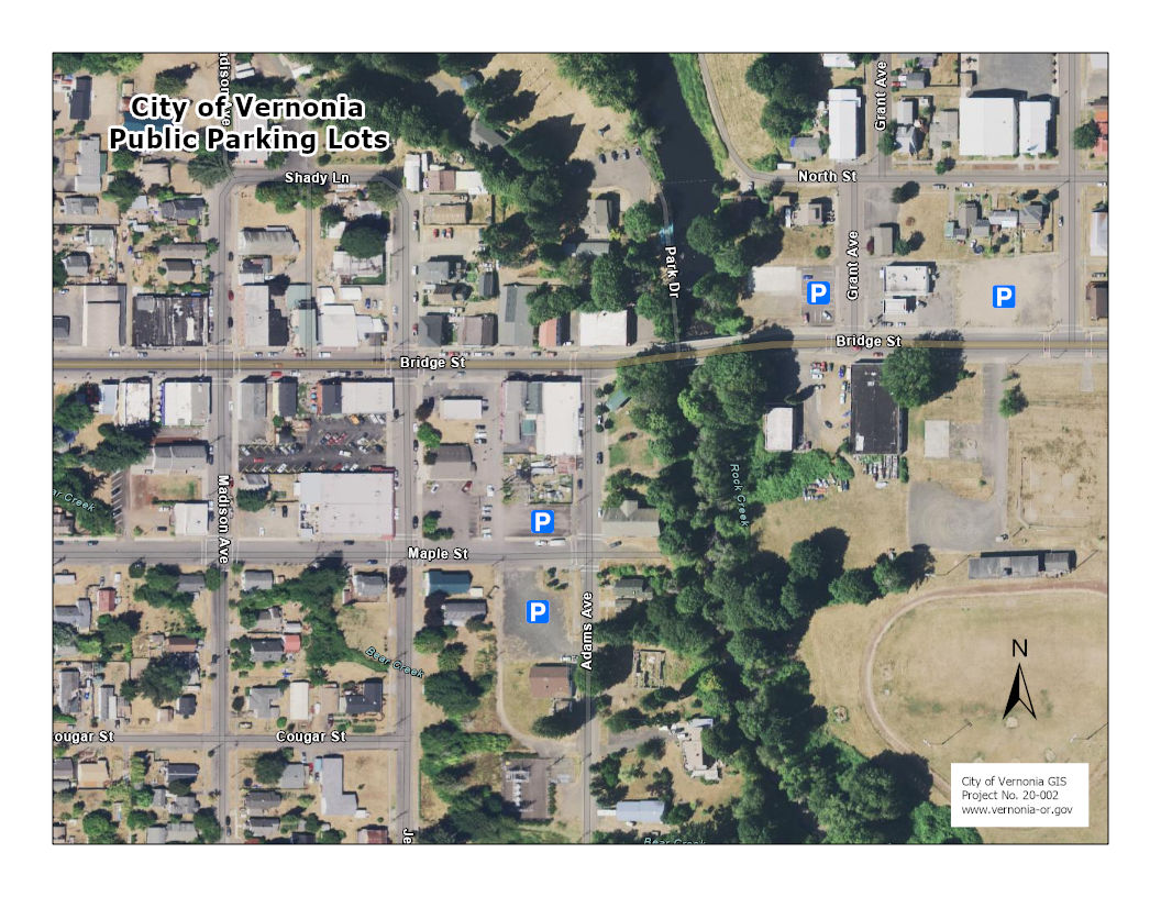 Vernonia Downtown Parking