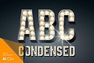 3d Condensed Lampboard alphabet images/3D-condense-black-typefaces-aphabet_1.jpg