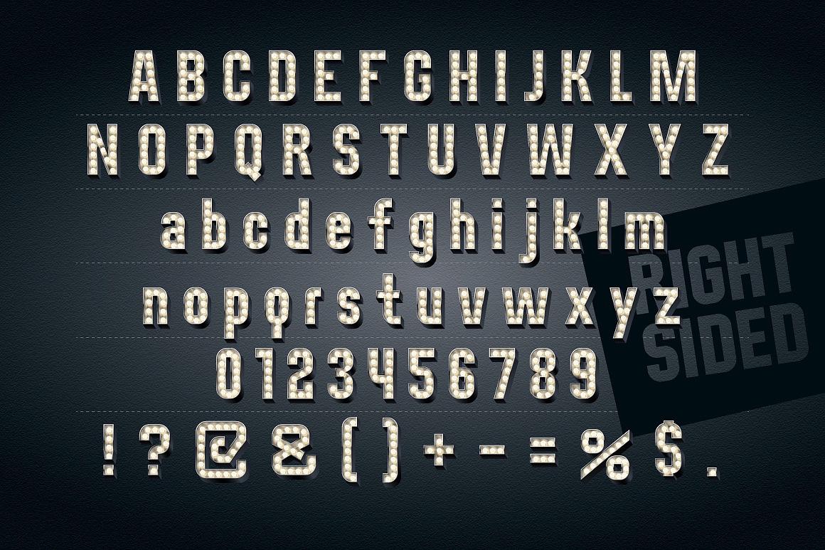 3d Condensed Lampboard alphabet images/3D-condense-black-typefaces-aphabet_2.jpg