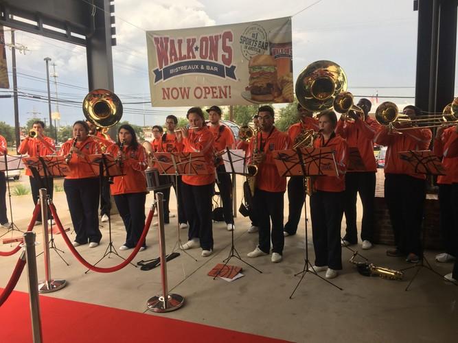 UTSA Marching Band Performs at Walk-Ons VIP Event