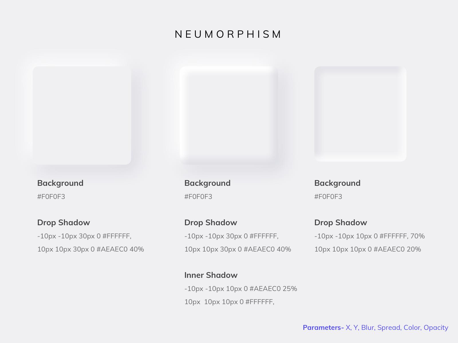 Neumorphism examples