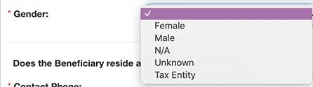 Gender: Tax Entity