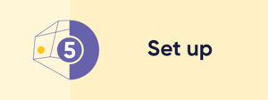 Perform setup activities for the first time user
