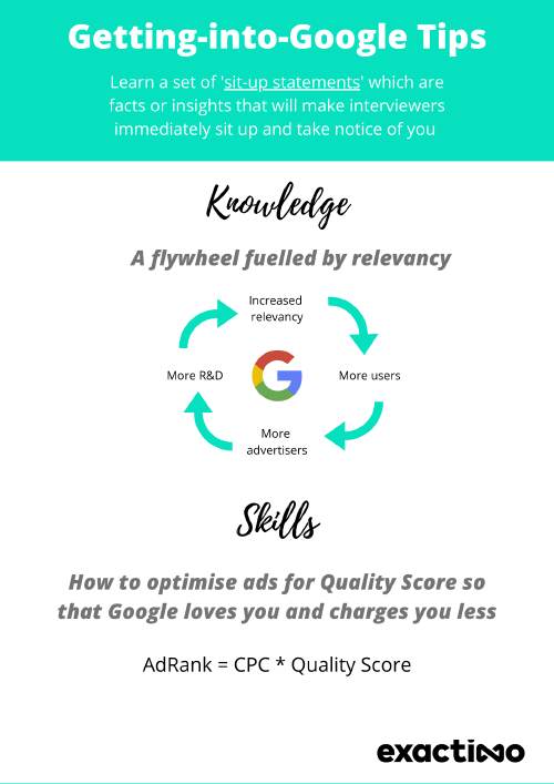 Tips on getting into Google