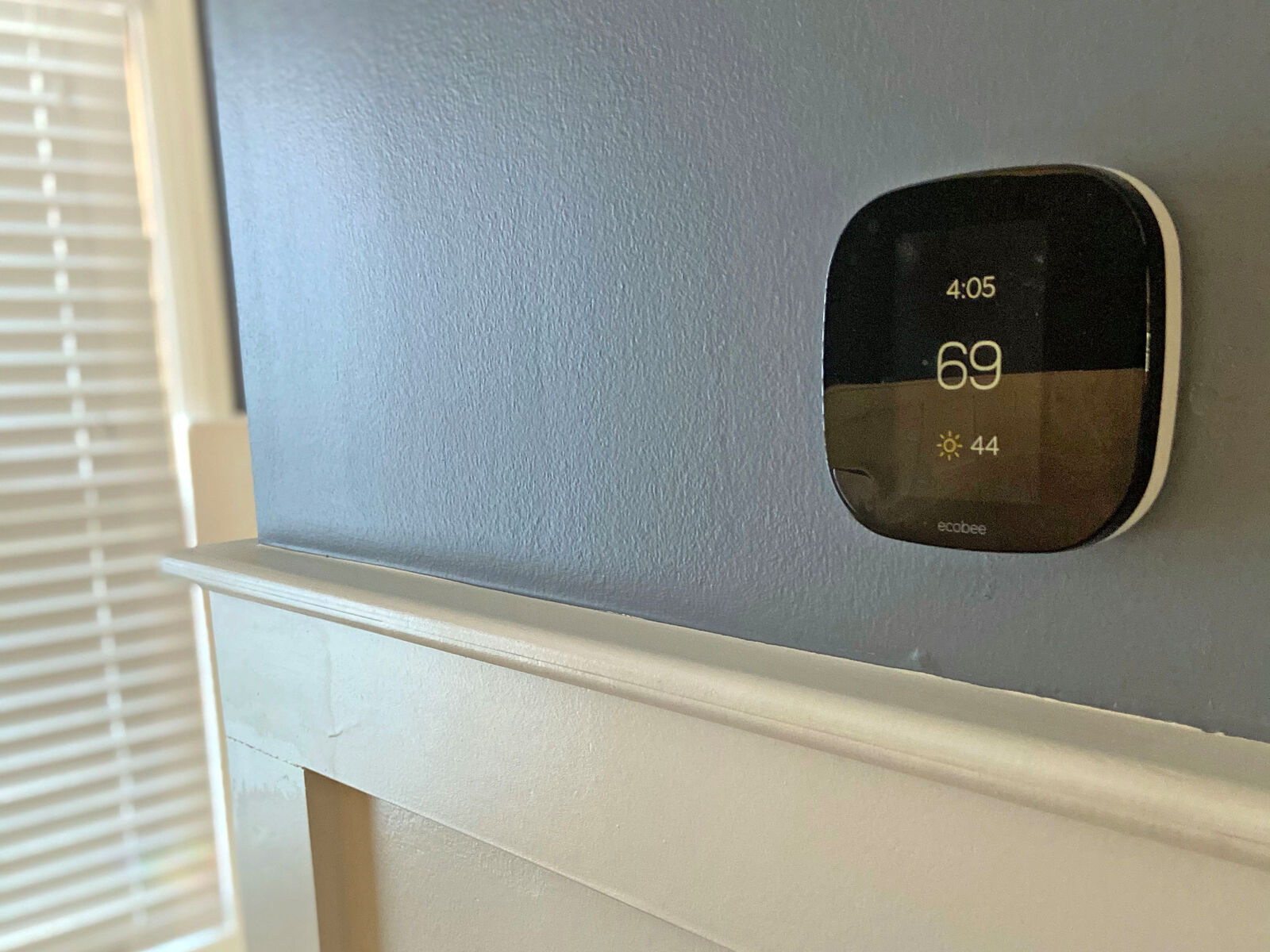 EcoBee thermostat on modern wall