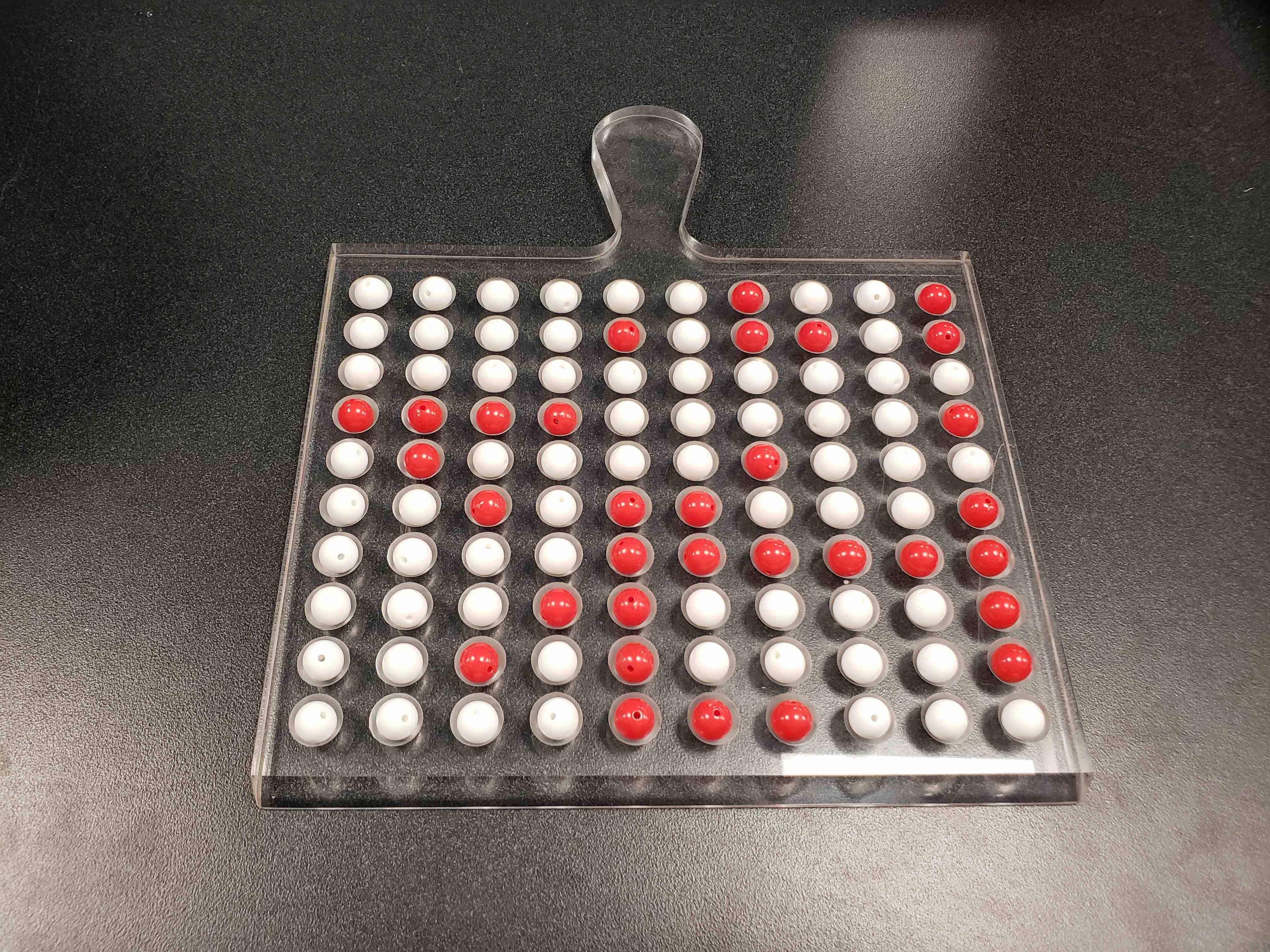 Tactile shovel for sampling n = 100 balls