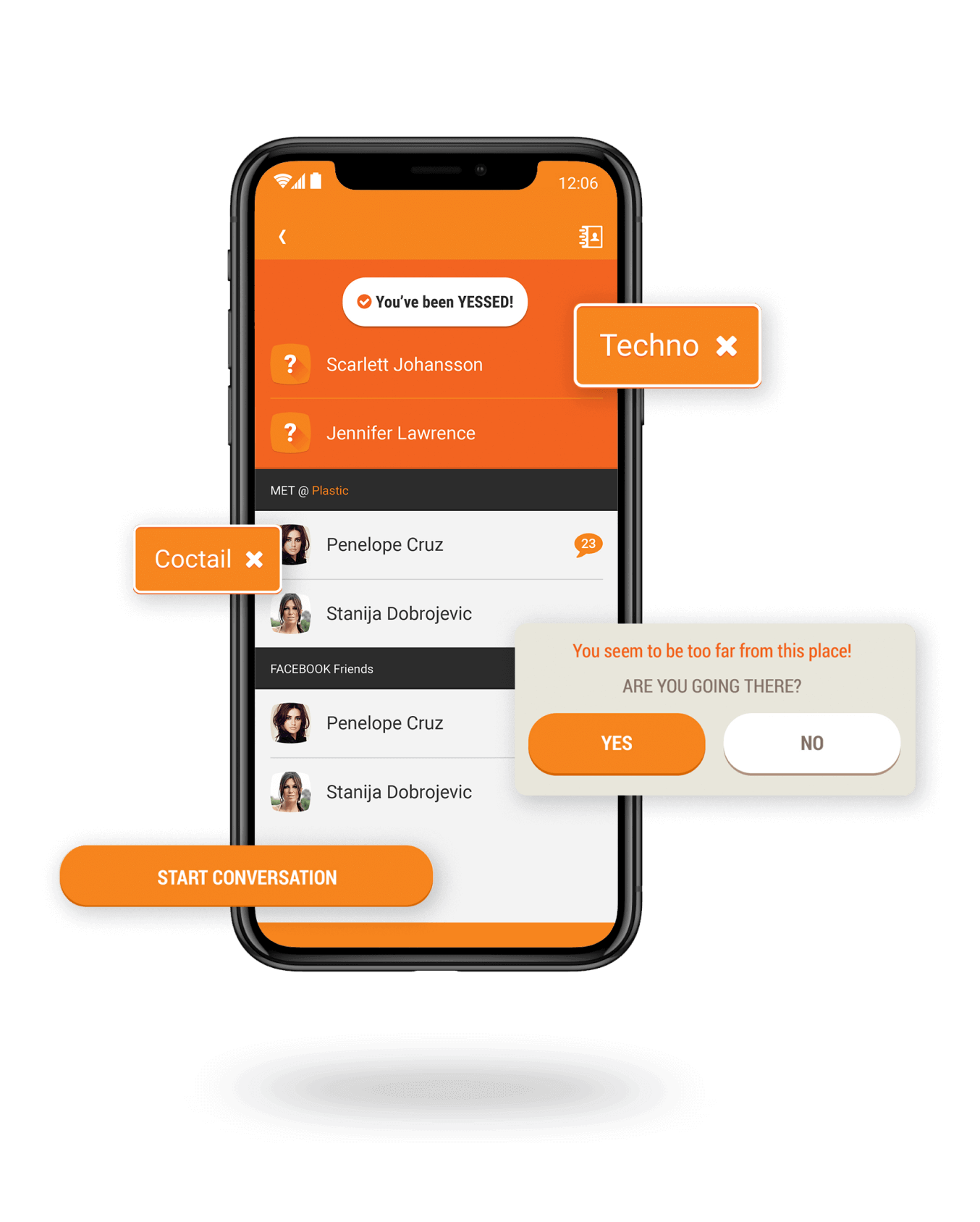 Location based Tinder like application overview